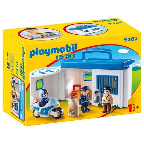 PLAYMOBIL 9382 1.2.3 - Take Along Police Station