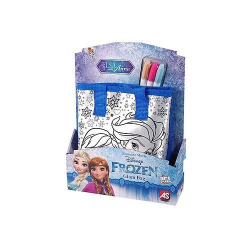 FROZEN ART GRECO DRAWING GLAM BAG