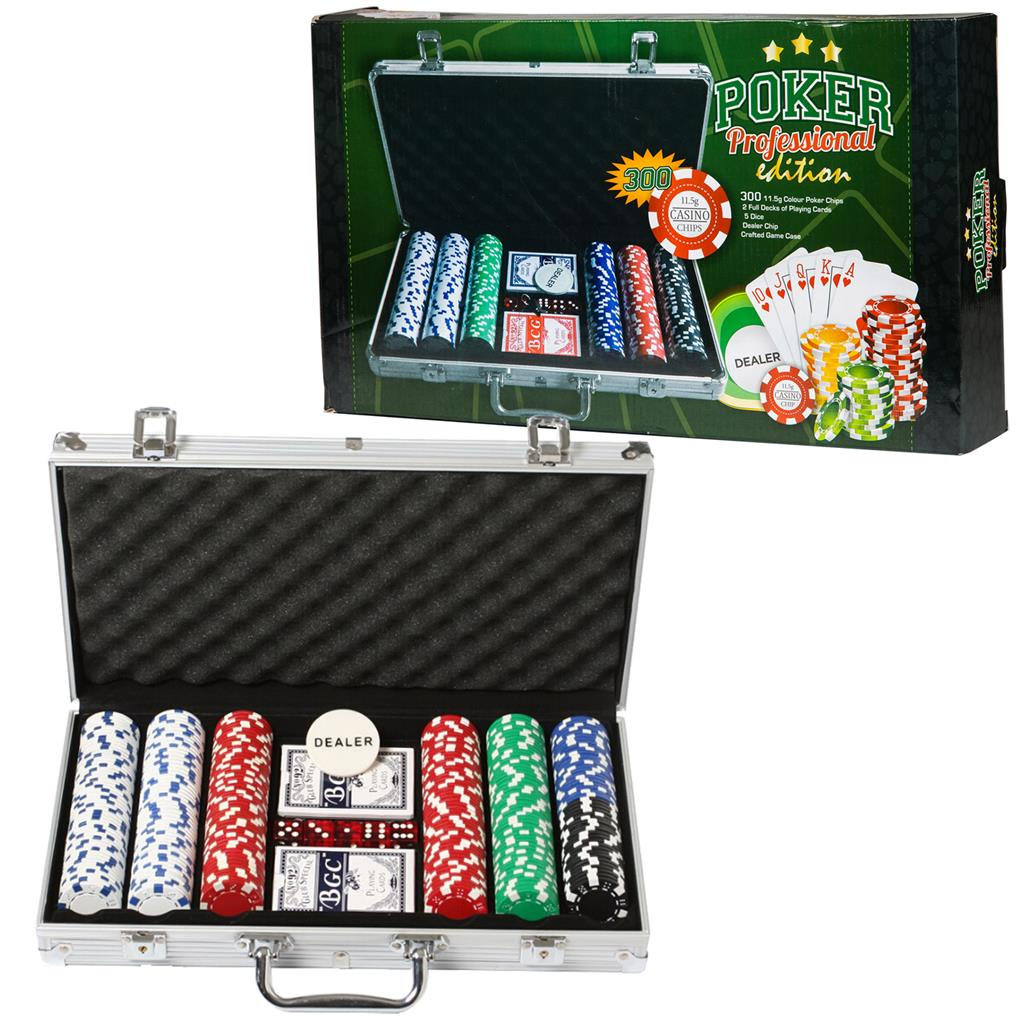 Poker Set Aluminum Case 300 Dlg Mavros Larnaca