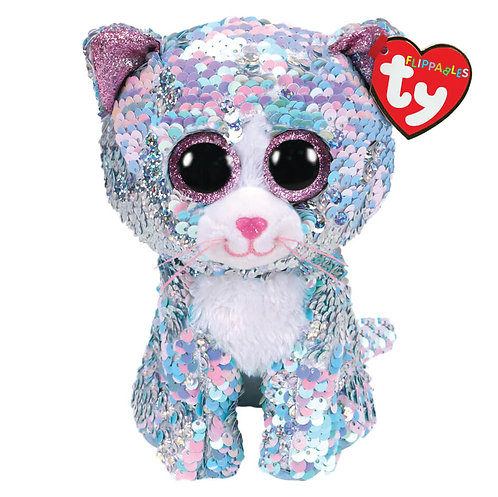 TY SEQUIN CAT 15CM - WHIMSY (36674)