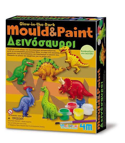 MOULD & PAINT DINOSAURS (4M0049)