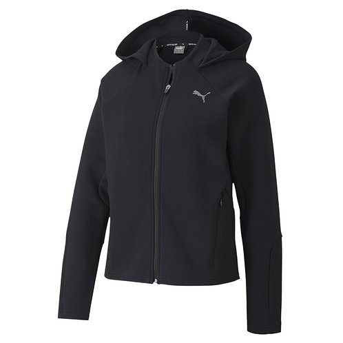 PUMA EVOSTRIPE FULL ZIP WOMEN'S HOODIE (BLACK)