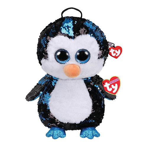 TY SEQUIN BACKPACK PENGUIN - WADDLES (95029)