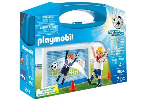 PLAYMOBIL 5654 SPORTS & ACTION - Soccer Shootout Carry Case