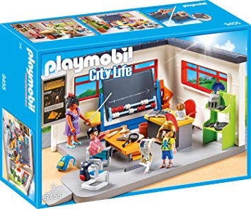 PLAYMOBIL 9455 CITY LIFE - History Class with Functional Blackboard