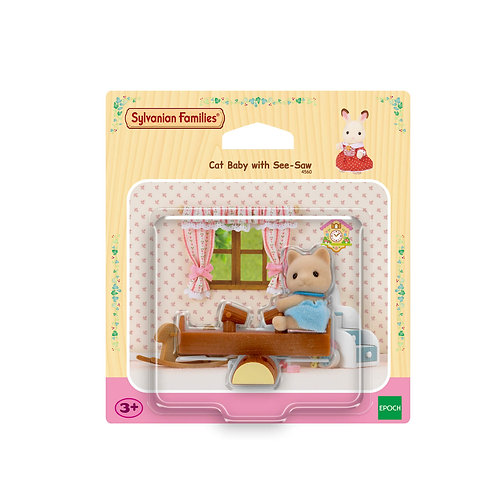 SYLVANIAN FAMILIES: CAT BABY WITH SEE-SAW (4560)
