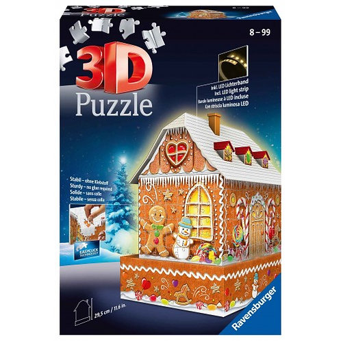 RAVENSBURGER 3D PUZZLE MIDI 216 PCS GINGERBREAD HOUSE (11237)