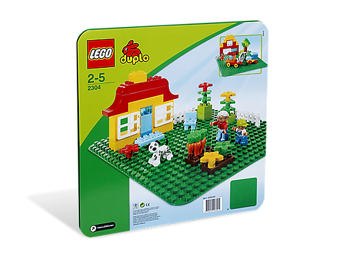LEGO 2304 DUPLO - Green Building Plate
