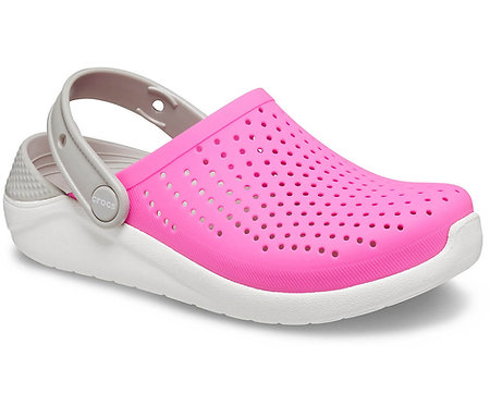 CROCS LITERIDE CLOG KIDS - ELECTRIC PINK/WHITE