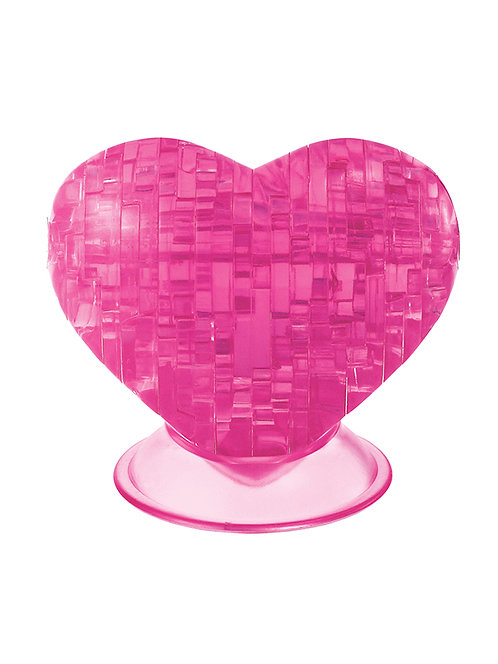 CRYSTAL PUZZLE PINK HEART