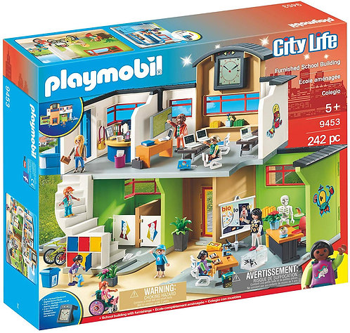 PLAYMOBIL 9453 CITY LIFE - Furnished School Building with Digital Clock