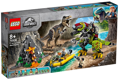 LEGO 75938 JURASSIC WORLD - T. rex vs Dino-Mech Battle