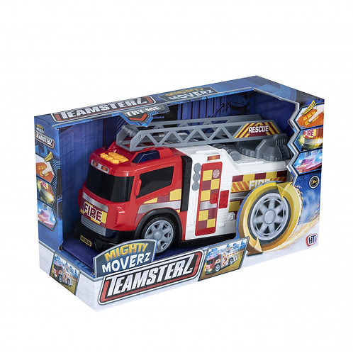 TEAMSTERZ FIRE TRUCK MIGHTY MOVERZ WITH MOVEMENT LIGHTS & SOUNDS (7535-16826)