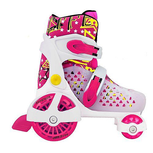 ADJUSTABLE ROLLER SKATES (SIZE 30-33) - FUXIA