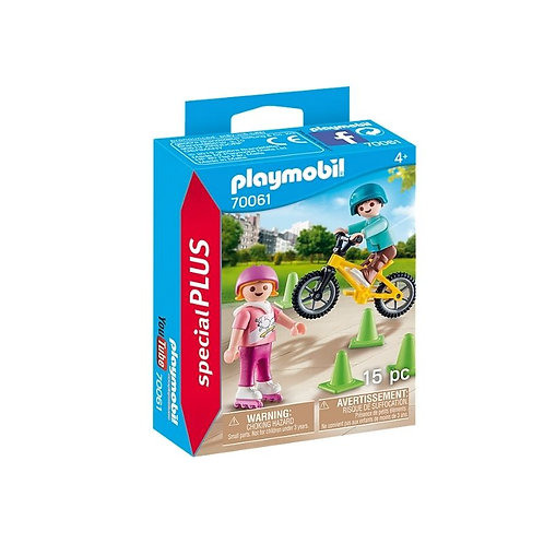 PLAYMOBIL 70061 SPECIAL PLUS - Children with Skates and Bike