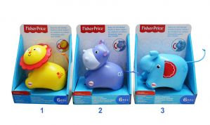 FISHER-PRICE ROLL ALONG ANIMALS