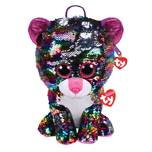TY SEQUIN BACKPACK LEOPARD - DOTTY (95024)