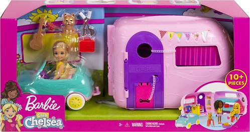 BARBIE  CLUB CHELSEY - DOLL, CAMPER AND ACCS (FXG90)