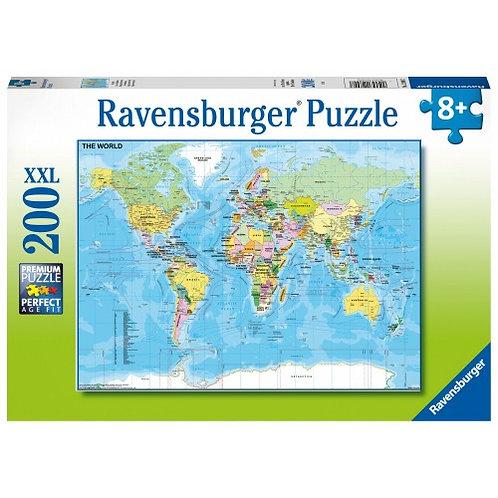 RAVENSBURGER PUZZLES 200XXL PCS WORLD MAP