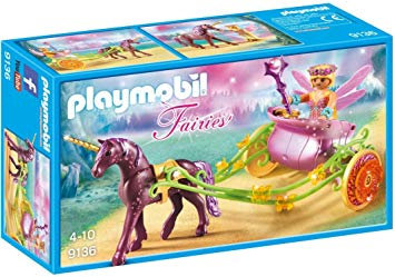 PLAYMOBIL 9136 FAIRIES - Flower fairy with unicorn carriage