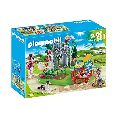 PLAYMOBIL 70010 SUPER SET - Family Garden