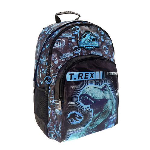 JURASSIC WORLD BACKPACK WITH 3 CASES