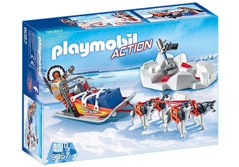 PLAYMOBIL 9057 ACTION - Husky-Drawn Sled