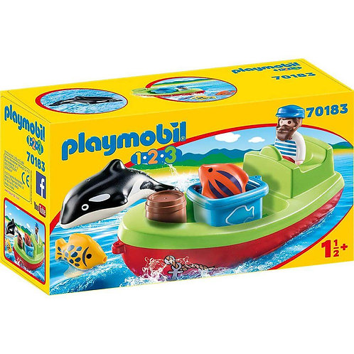 PLAYMOBIL 70183 1.2.3 - Fisherman with Boat