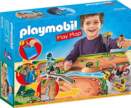 PLAYMOBIL 9329 PLAY MAP - Motocross Play Map
