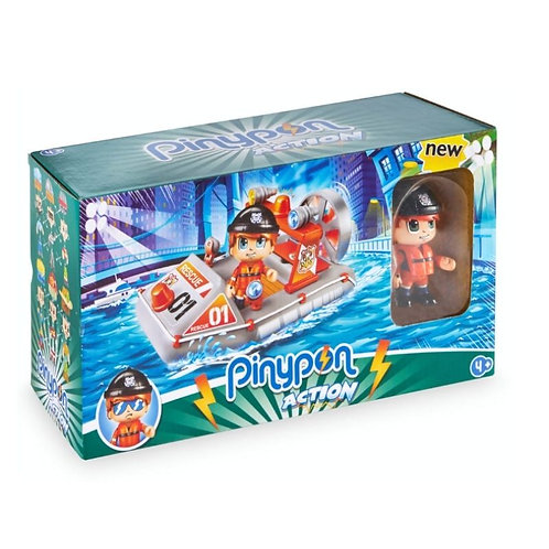 PINYPON ACTION BOAT VEHICLE & FIGURE (700015050)