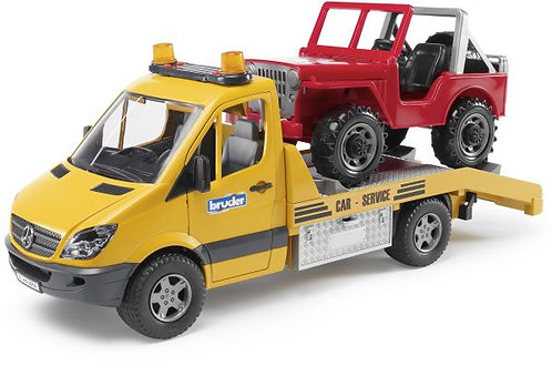 BRUDER 02535 MERCEDES SPRINTER WITH CROSS COUNTRY VEHICLE