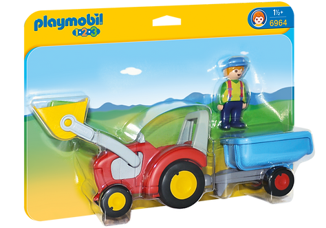 PLAYMOBIL 6964 1.2.3 - Tractor with Trailer