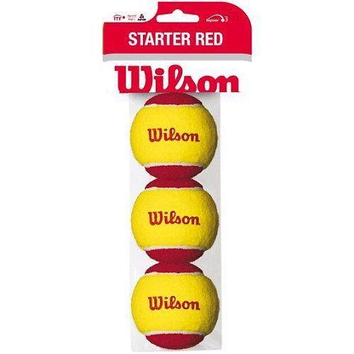 WILSON STARTER BALLS RED 3PK STAGE 3