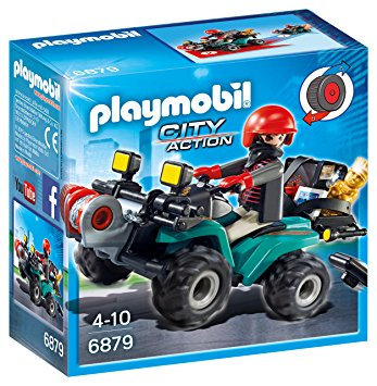 PLAYMOBIL 6879 CITY ACTION - Robber's Quad with Loot
