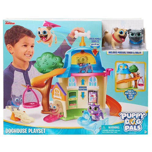 PUPPY DOG PALS-HOUSE  PLAYSET + 2 FIGURES