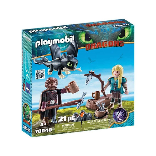 PLAYMOBIL 70040 DRAGONS - Hiccup and Astrid Playset