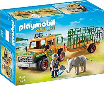 PLAYMOBIL 6937 WILD LIFE - Ranger's Truck with Elephant