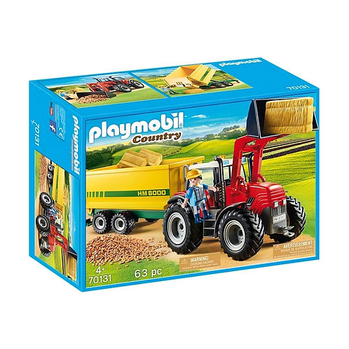 PLAYMOBIL 70131 COUNTRY - Tractor with Feed Trailer
