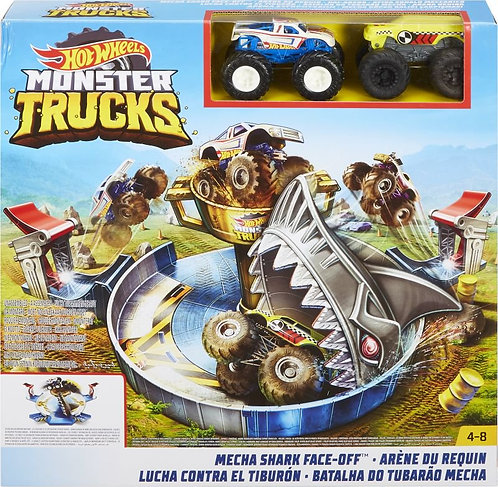 HOTWHEELS MONSTER TRUCKS MECHA SHARK FACE-OFF (FYK14)