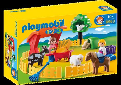 PLAYMOBIL 6963 1.2.3 - Petting Zoo