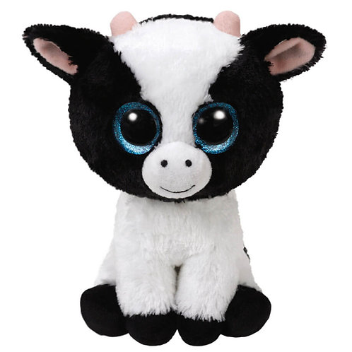 TY BLACK/WHITE COW PLUSH 15CM