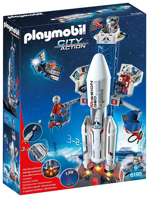 PLAYMOBIL 6195 CITY ACTION - Space Rocket with Launch Site