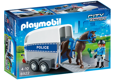 PLAYMOBIL 6922 CITY ACTION - Police with Horse and Trailer