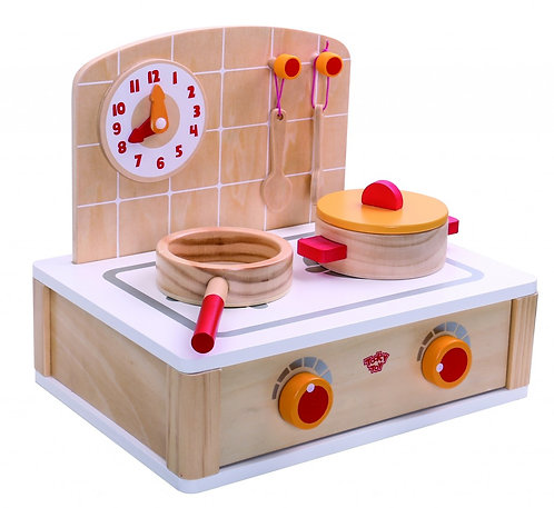 TOOKY TOY WOODEN SMALL KITCHEN WITH KITCHEN SET
