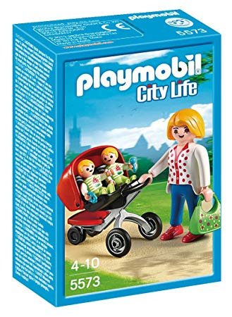 PLAYMOBIL 5573 CITY LIFE - Mother with Twin Stroller