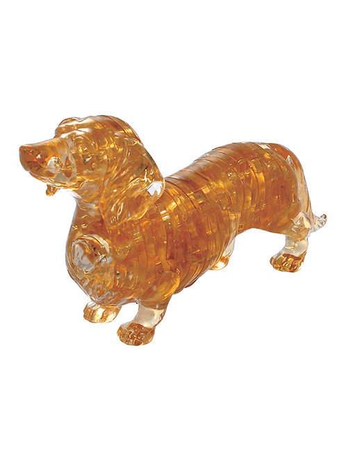 CRYSTAL PUZZLE DACHSHUND  BROWN