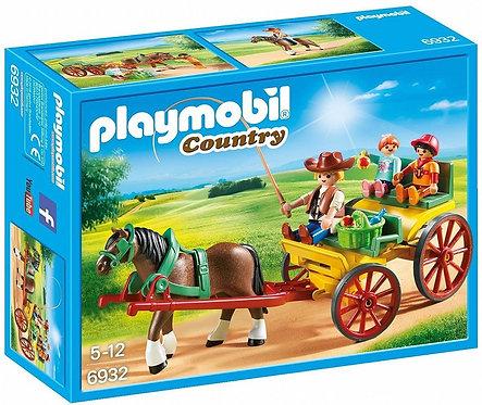 PLAYMOBIL 6932 COUNTRY - Horse-Drawn Wagon