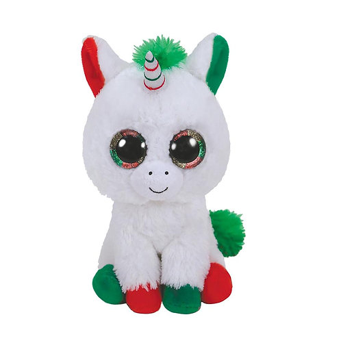 TY CANDY CANE UNICORN PLUSH 15CM