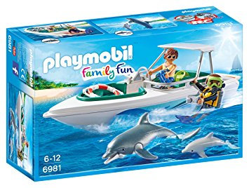 PLAYMOBIL 6981 FAMILY FUN - Diving Trip with Floating Speedboat