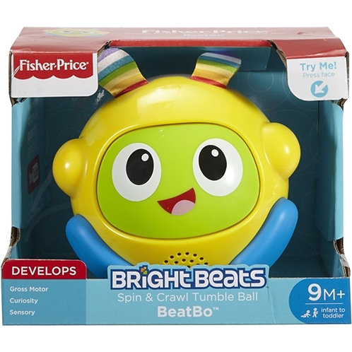 FISHER-PRICE BRIGHT BEATS SPIN & CRAWL TRUMBLE BALL BEATBO - GREEK